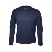 Mens Long Sleeve Ribbed Double T-shirt