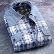 Mens Long Sleeve Slim Fit Flannel Shirts