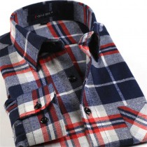 Mens Multi Color Plaid Casual Shirts