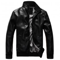 Mens New Fashion Casual PU Leather Jackets