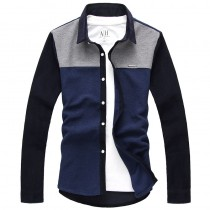 Mens New Fashion Grey Casual Shirts