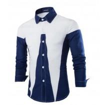 Mens New Fashion Patchwork Slim Fit Shirts