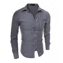 Mens New Fashion Plaid Cotton Shirts