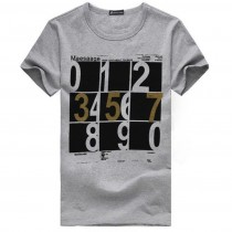 Mens Number Printed Cotton Tshirts