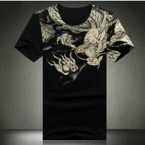 Mens Printed Pattern Cotton Polo Tshirts