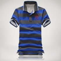 Mens Slim Fit Striped Pattern Casual Polos