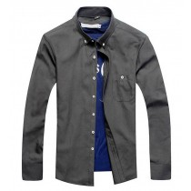 Mens Solid Buttons Full Sleeve Shirts