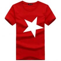 Mens Star Printed Short Sleeve Tshirts