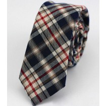 Mens Striped Polyester Wool Slim Narrow Ties