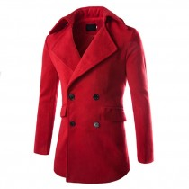 Mens Turn-Down Collar Winter Casual Trench Coats