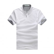 Mens V-Neck Casual Short Sleeve Polos