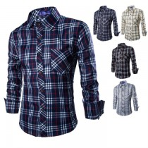 New Arrival Mens Plaid Long Sleeve Shirts