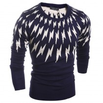 New Patchwork Casual Men Sweaters