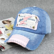 New Women Casual Denim Baseball Caps