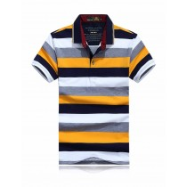 Top Quality Summer Casual Striped Polos