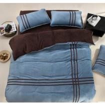 Velvet Coral Fleece Comforter Sets