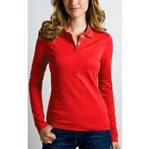 Womens Cotton Long Sleeve Polo Shirts