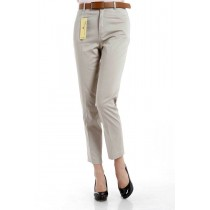 Womens High Waist Straight Casual Cotton Trousers
