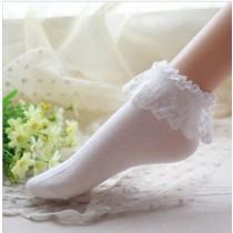Womens Lace Ruffle Fashion Ankle Socks