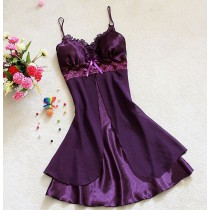 Womens Lace Short Chiffon Nightgowns