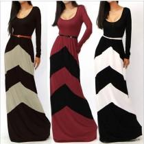 Womens Long-Sleeve Floor Length Long Dresses