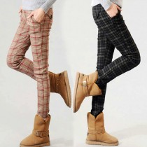 Womens Plaid Casual Trousers