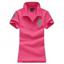 Womens Turn-down Collar Polo Tshirts